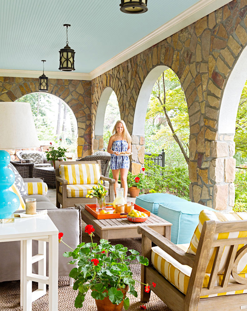 Polished patio