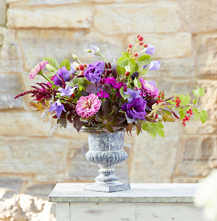 A purple garden bouquet