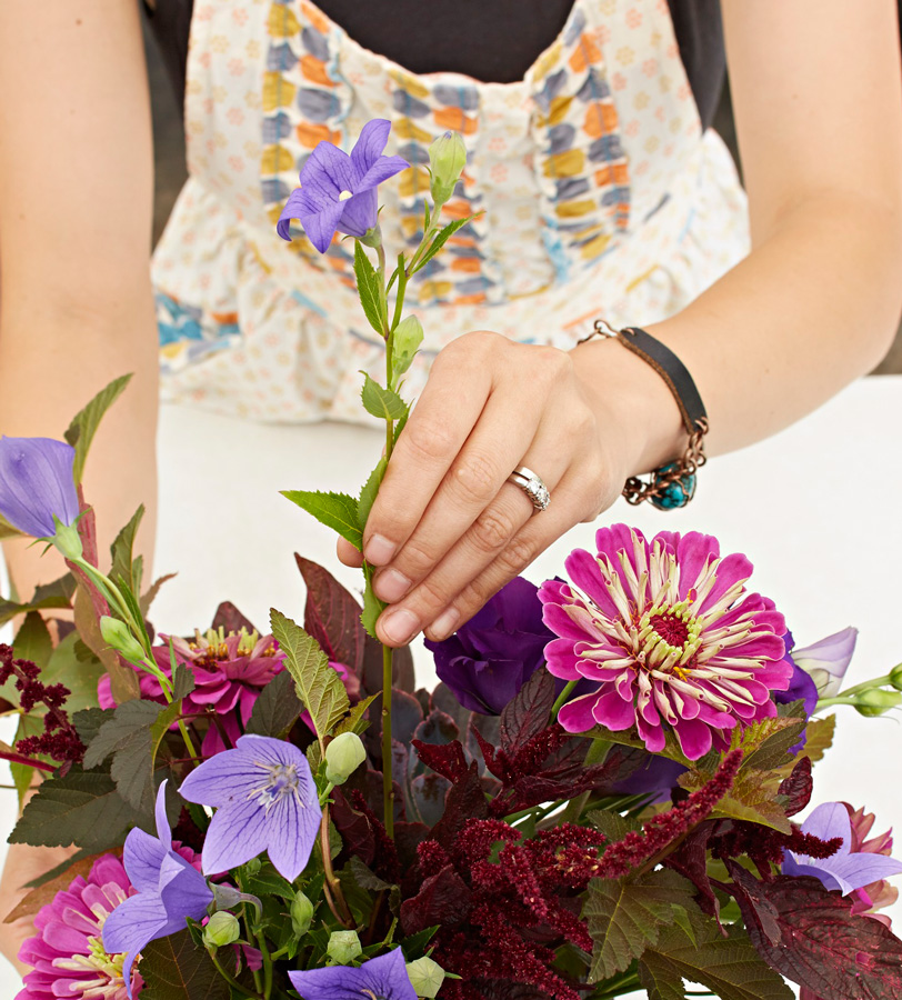 Step 4: Choose focal flowers
