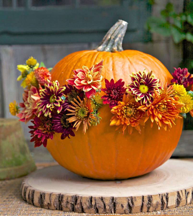 Flower-power pumpkin