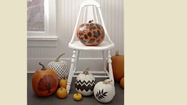 How to Decorate Pumpkins with Fall Patterns