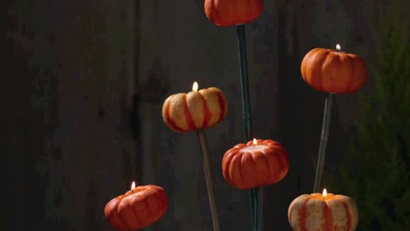 How To: Make Tiny Pumpkin Torcheres