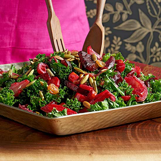 Kale, Cranberry and Root Vegetable Salad