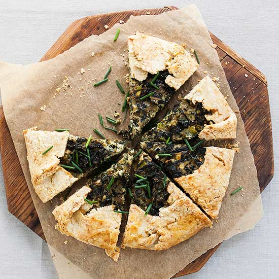 Swiss Chard Crostata with Fennel Seed Crust