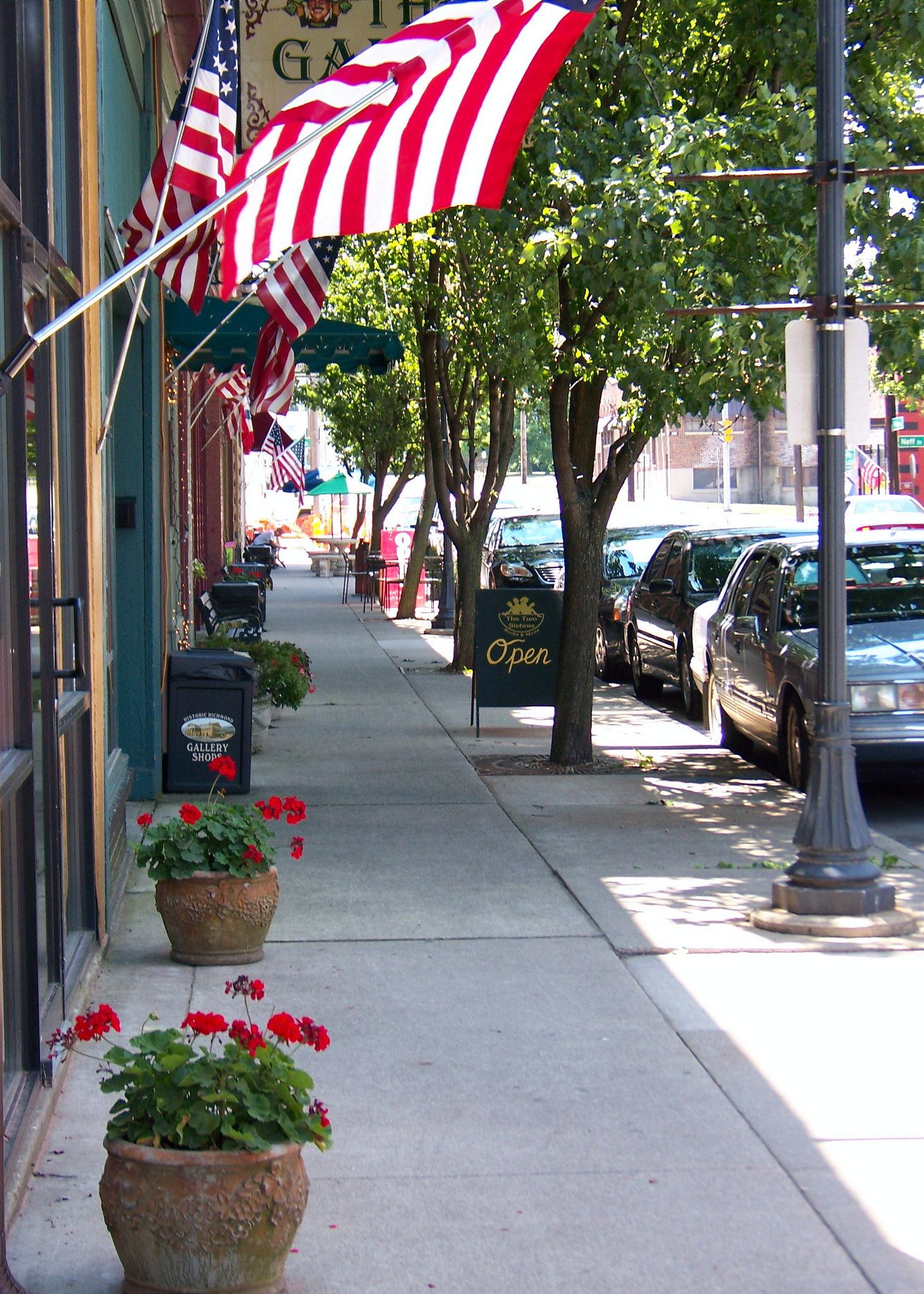 Streetscape in Richmond