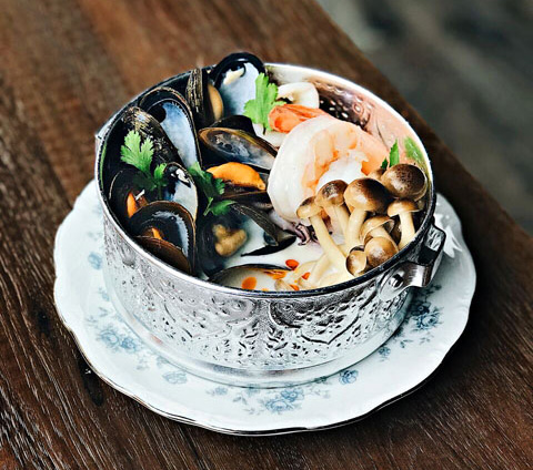 Coconut Poached Seafood