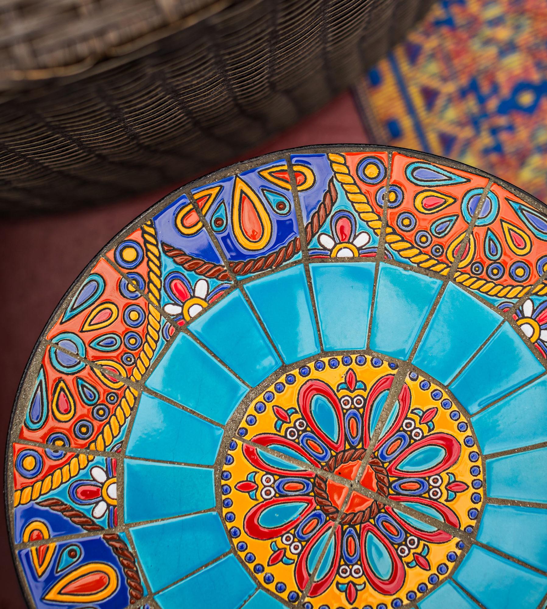 Mosaic-tile tabletop