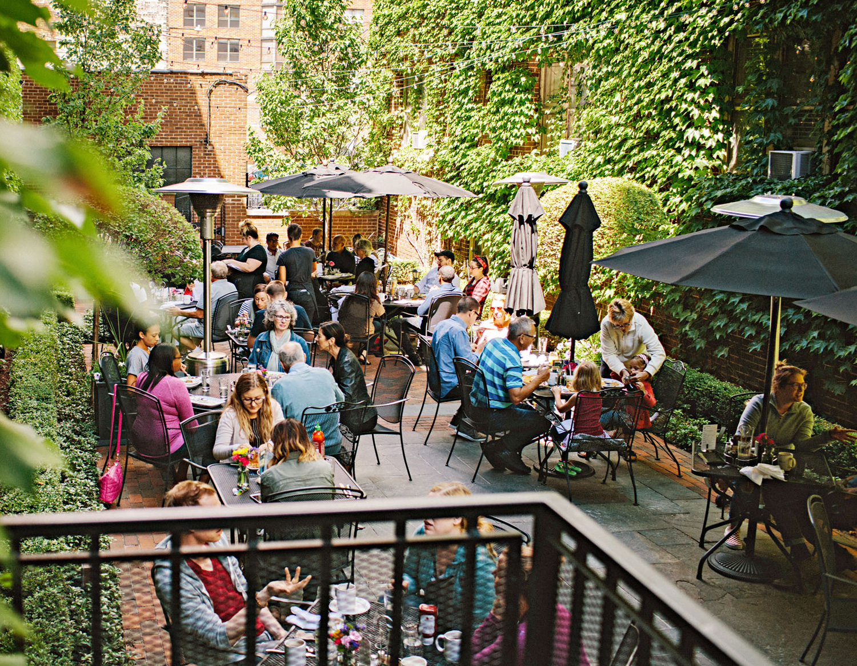 Cafe at the Plaza's garden patio