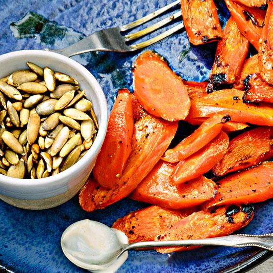 Roasted Carrots with Lemon-Cumin Aioli