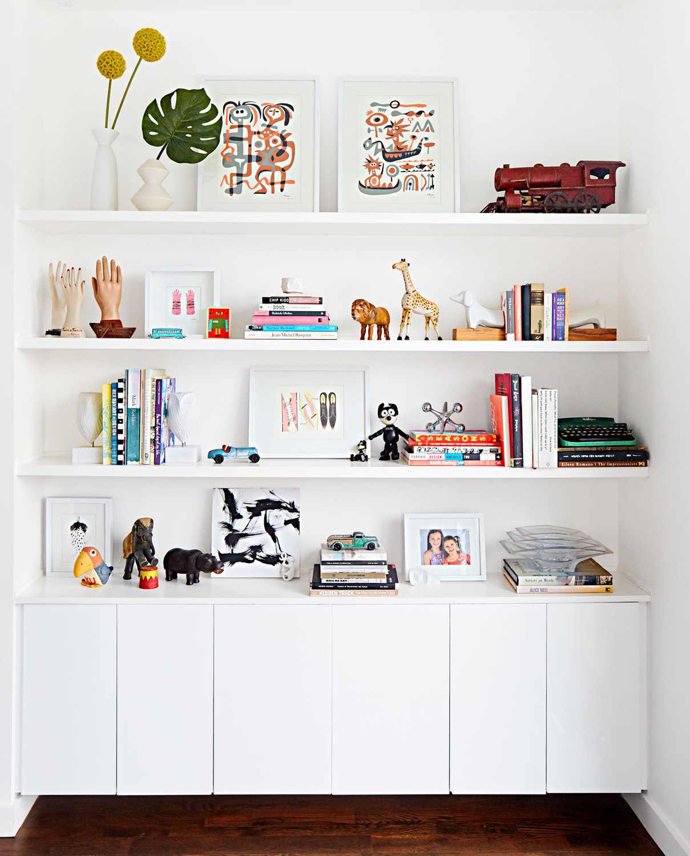 Carpenter house shelves