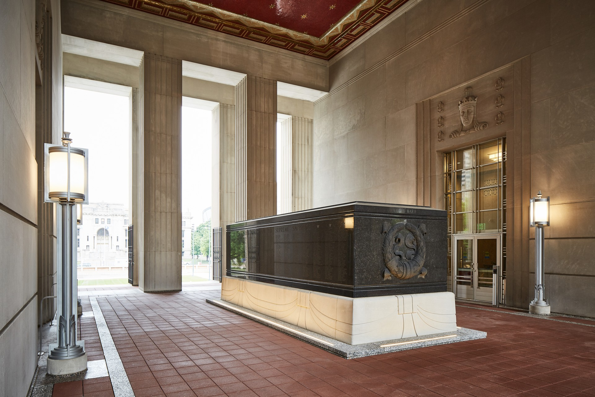 Cenotaph in the Loggia and Gold Star Mothers Mosaic
