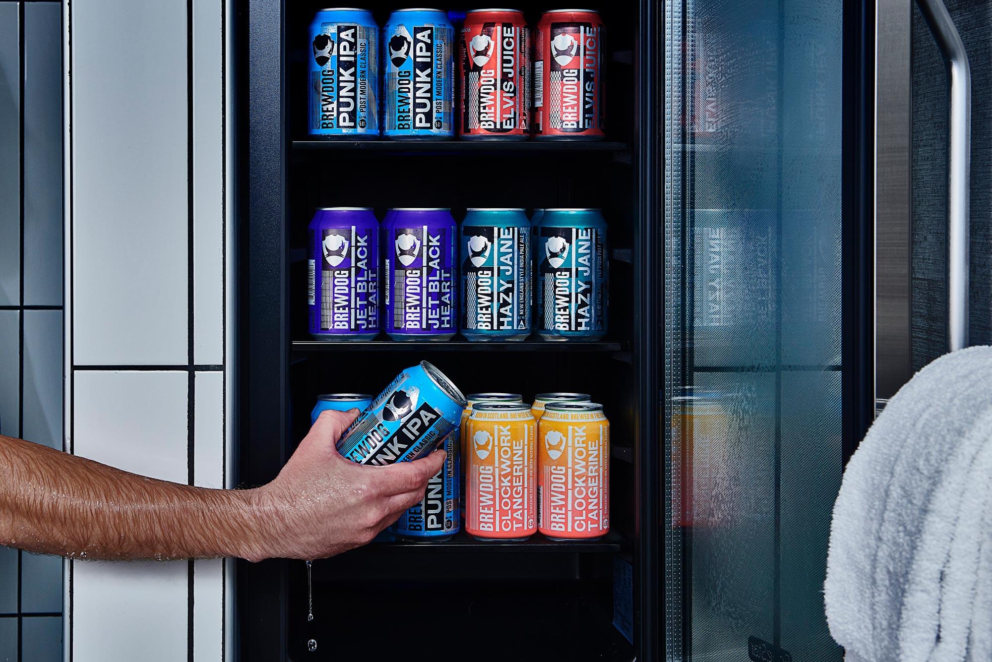 Shower beer fridge