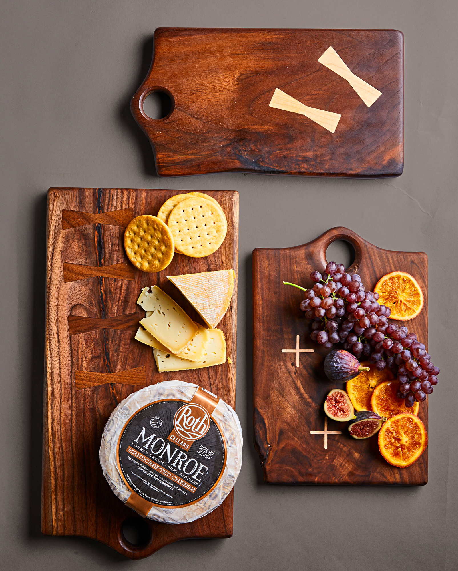 Arikata serving board and Monroe Cheese