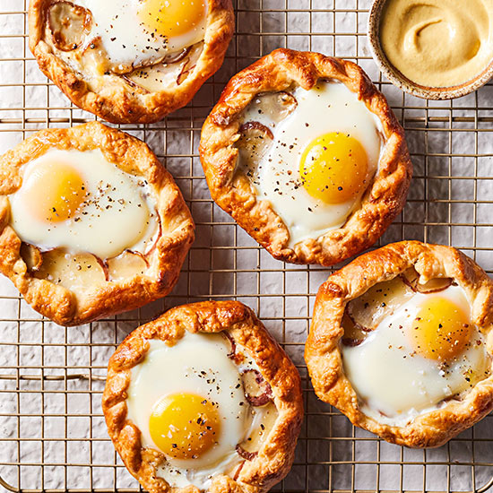 Egg-on-Top Galettes with Potato and Cream Cheese
