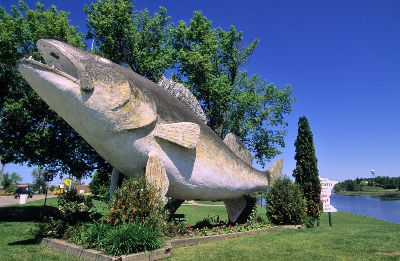 Walleye sculpture in Baudette