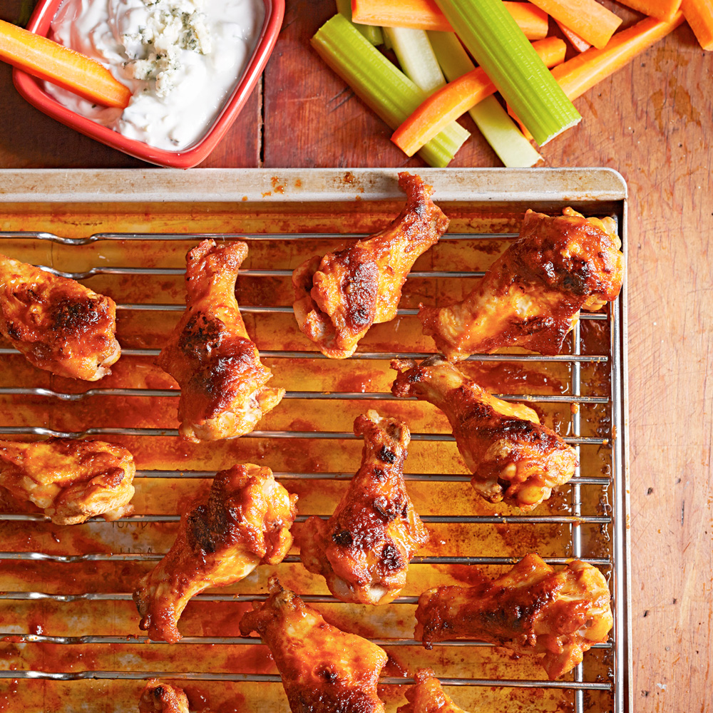 Buffalo Chicken Wings with Blue Cheese Dressing