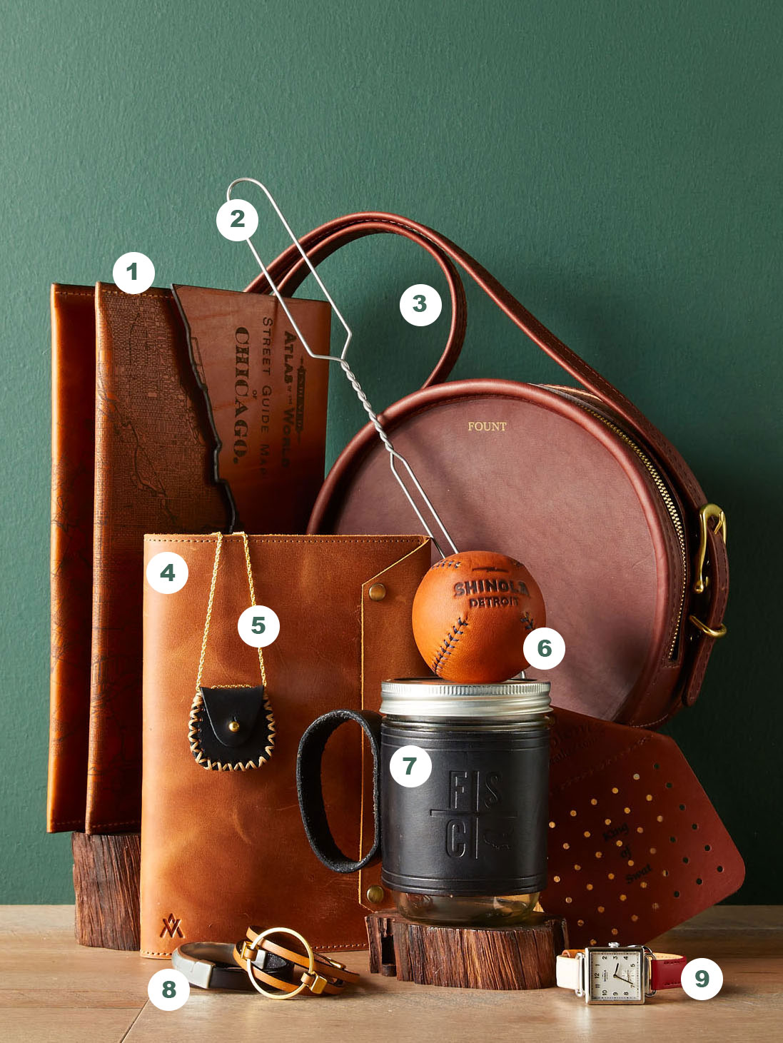 Midwest-Made Leather Pieces