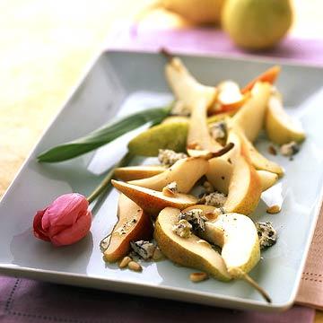 White-on-White Pears with Gorgonzola