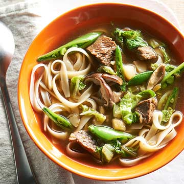 Gluten-Free Asian Beef and Noodle Bowl
