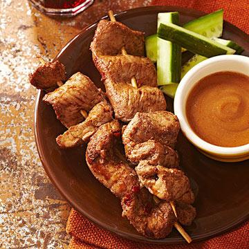 Chinese Five Spice Marinated Pork Satay