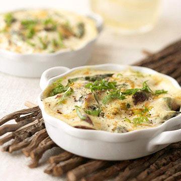 Mushroom, Asparagus, and Tofu Quiches