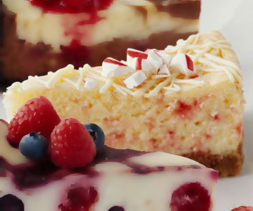 White Chocolate-Candy Cane Cheesecake