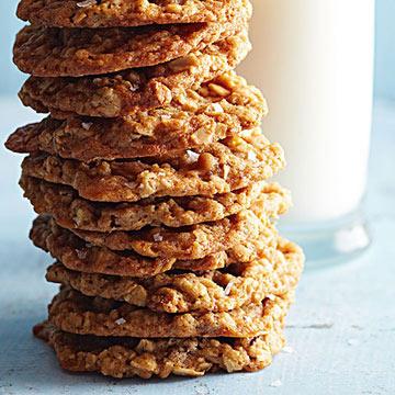 Salty Caramel and Pecan Oatmeal Cookies