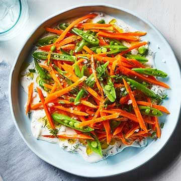 Peas 'n' Carrots Salad with Buttermilk Ranch
