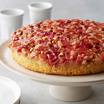 Flourless Rhubarb Almond Upside Down Cake Midwest Living