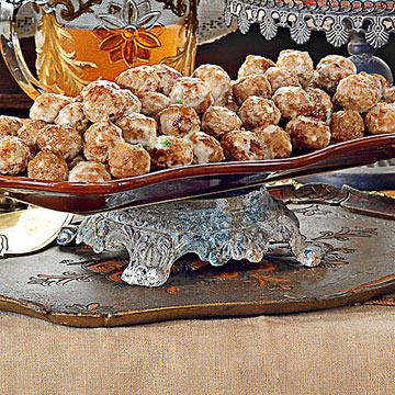 Meatballs and Alfredo Sauce