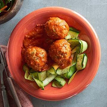 Turkey Meatballs with Fiery Tunisian Sauce