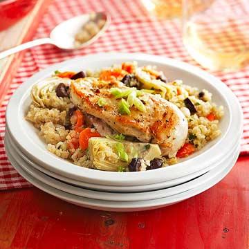Quinoa with Chicken and Artichokes