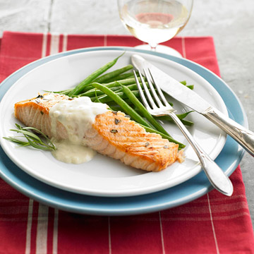 Cider-Brined Coho Salmon with Dijon Cream