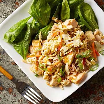 Orange Chicken Coleslaw Salad