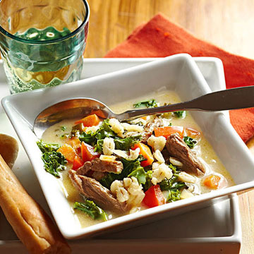 Asian Beef Barley Soup