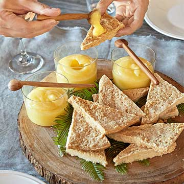 Lemon Curd and Shortbread