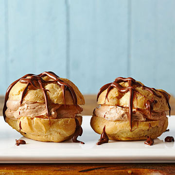 Chocolate Hazelnut Cream Cheese Puffs