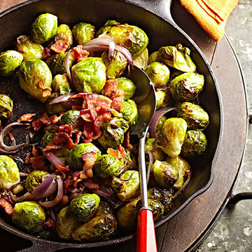 Bacon-Roasted Brussels Sprouts