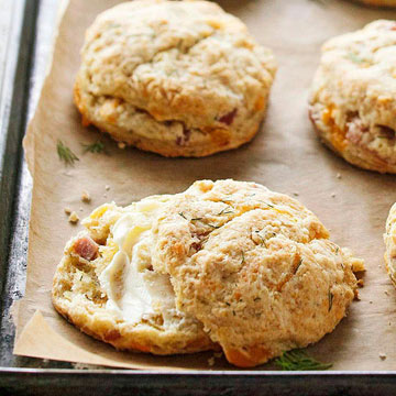 Ham-and-Cheddar Scones