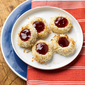 Strawberry-Coconut Thumbprints