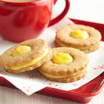 Orange-Ginger Cookie Sandwiches