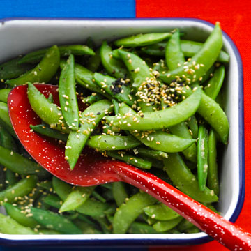 Sugar Snap Peas with Sesame Seeds