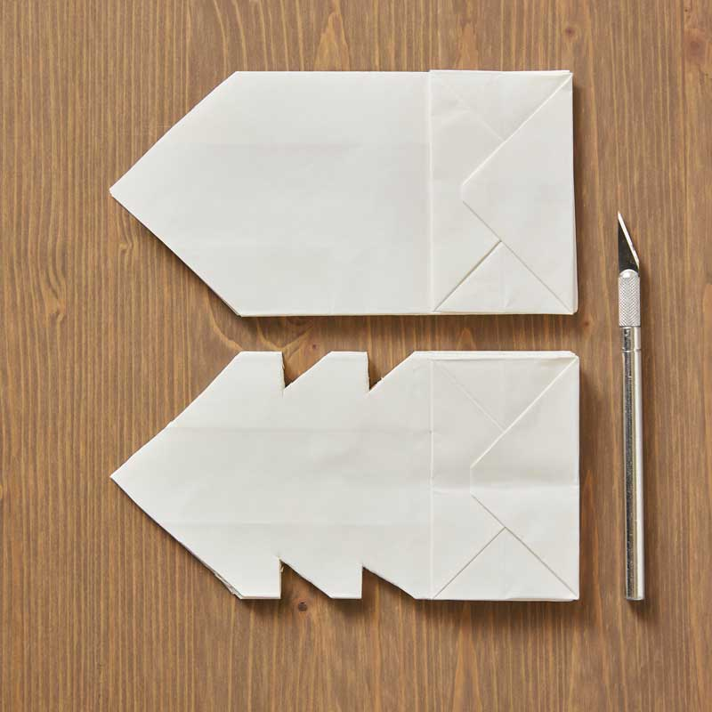 How to Make Paper Bag Star Decorations, Step 3