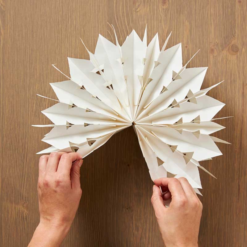 How to Make Paper Bag Star Decorations, Step 5