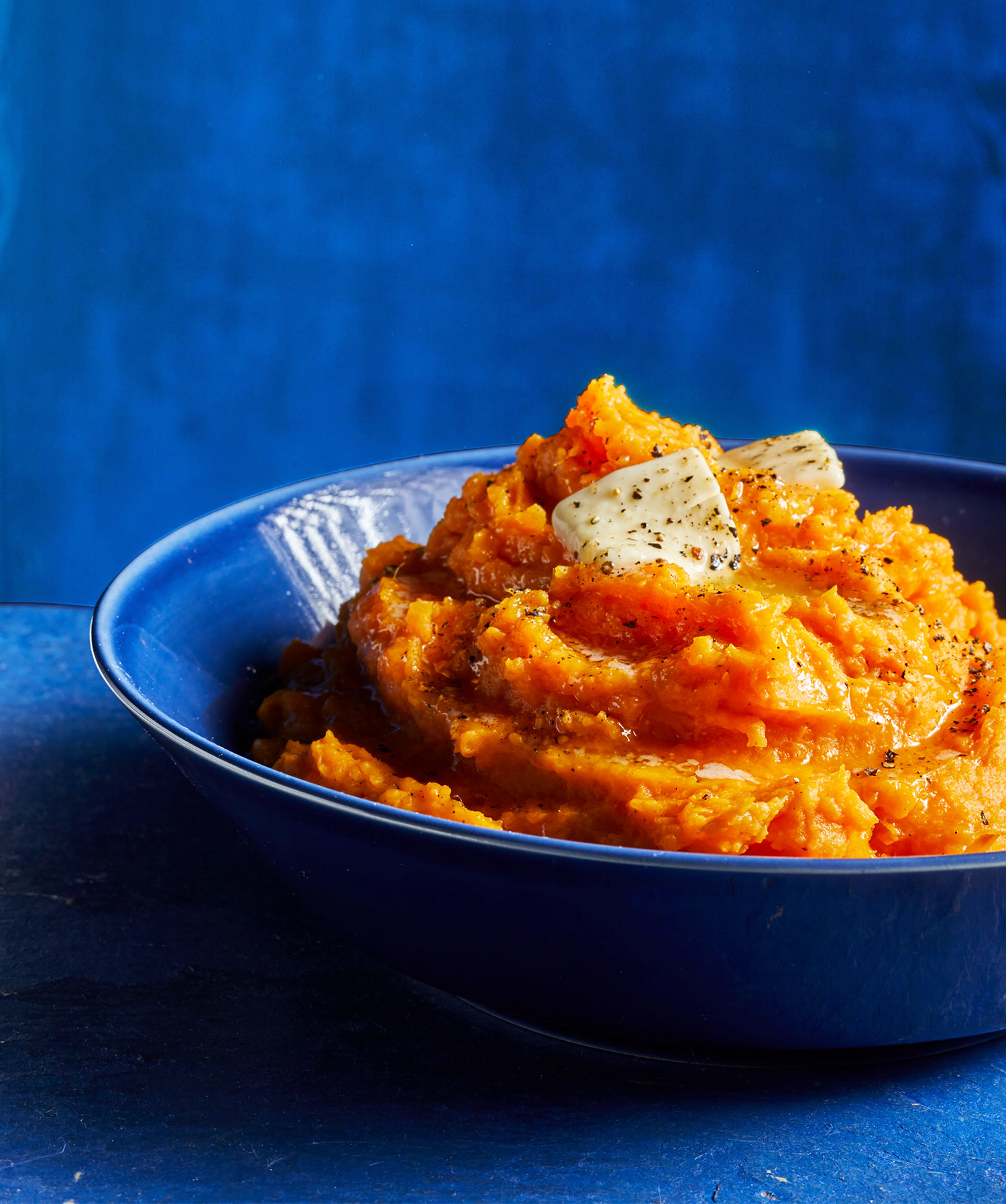 Mashed Sweet Potatoes with Orange and Mascarpone