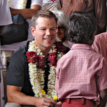 Celebrity Q+A: Matt Damon
