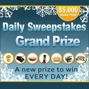 Daily Sweepstakes $5,000 Winter Grand Prize
