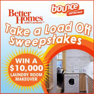 Better Homes & Gardens Take a Load Off Sweepstakes