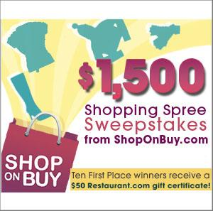 ShopOnBuy.com's Shopping Spree Sweepstakes
