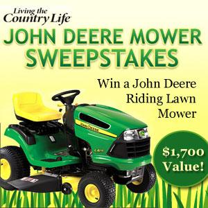 Living the Country Life John Deere Mower Sweepstakes